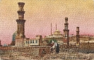 Tombs Of Mamelukes and Citadel, Cairo, historic postcard 1909
