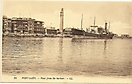 Harbour, Port Said, Egypt - historic postcard