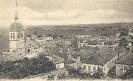 Vaucouleurs, Panorama de la ville avec l'église Saint Laurent, carte postale historique