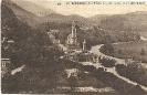 Lourdes, La Basilique, 1927, Vue prise du Château-Fort, carte postale historique