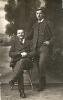 historische Fotografie-Zwei elegante Männer, 1918