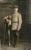 Historische Fotografie-Feldwebel in Uniform 1917-Atelier L.A.Hirsch in Ploest, Bulgarien