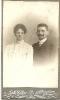 2-Historische Fotografie-Porträt eines Ehepaares, Atelier Adolf Walter, Schweidnitz, Feldstr. 2-2