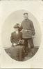 Porträt eines Paares 1914 - Feldpostkarte von Soltau nach Hannover - Historische Fotografie