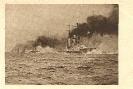 Kriegsflotte mit Schiffe aus dem 1. Weltkrieg, historische Ansichtskarte