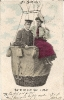 Heißluftballon, historische Postkarte, 1912