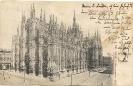 Mailand, der Dom (Milano, Duomo) - historische Ansichtskarte 1903