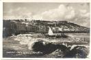 Napoli, Mare agitato a Margellina, cartoline storica