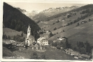 Kath. Kirche St. Leonhard und Widum, Vinaders am Brenner, historische Ansichtskarte, 1928