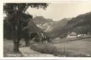 Obernberg am Brenner, Gasthof Spörr mit Tribulaun, historische Ansichtskarte
