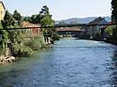 Limmatpromenade, Baden (AG), Schweiz - Holzbrücke