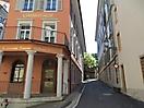 Blumengäßchen, Baden (AG), Schweiz - Limmathof und Hotel Blume