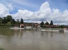 Reuss-Wehr, Blick auf Windisch, Standort: Gebenstorf, Aargau