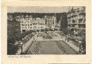 Schillerplatz, Marienbad, historische Ansichtskarte, 1944