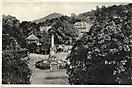 Kriegerdenkmal und Emanatorium, Teplitz-Schönau (Teplice), historische Ansichtskarte