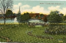 Scene in Lincoln Park, Cincinnati, Ohio, historic postcard, 1913