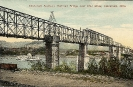Cincinnati Southern Railroad Bridge over Ohio River, Cincinnati, Ohio, historic postcard