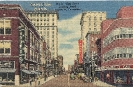 Gay Street , Nord Knoxville, Tennessee, historic postcard