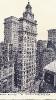 Gillender Building, Corner Wall Street and Nassau Street, New York, historische Ansichtskarte