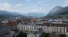 Blick über Innsbruck mit Flugzeug (Hotel Adlers), Juni 2015