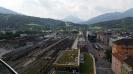 Blick über Innsbruck-Bahnhof (Hotel Adlers), Juni 2015